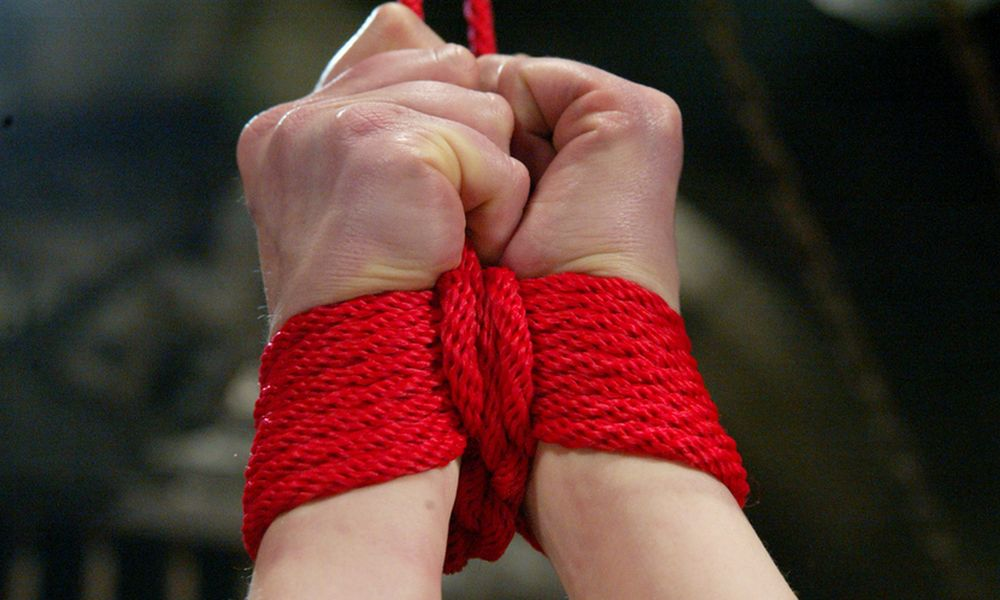 tied wrists