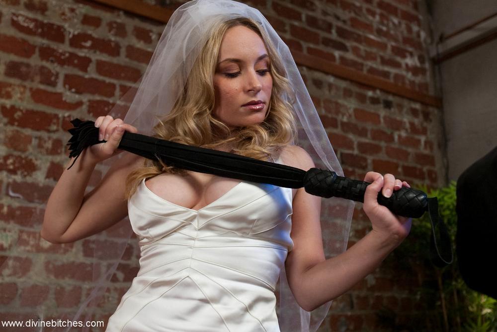 femdom bride with flogger