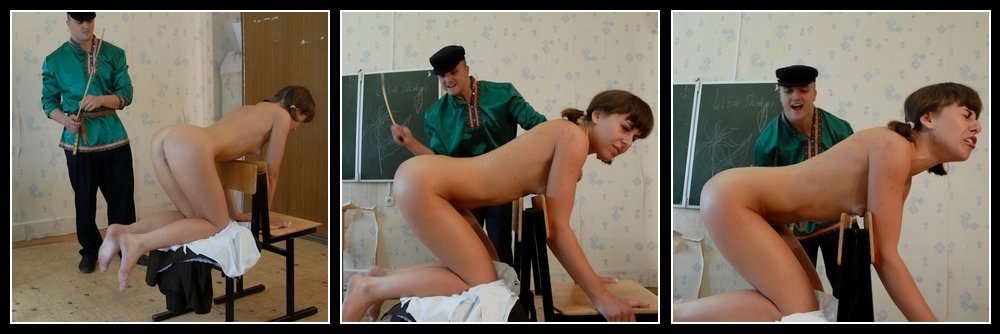 her first serious caning punishment