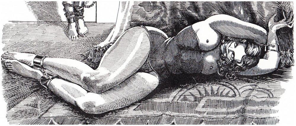 bondage slave girl vintage art