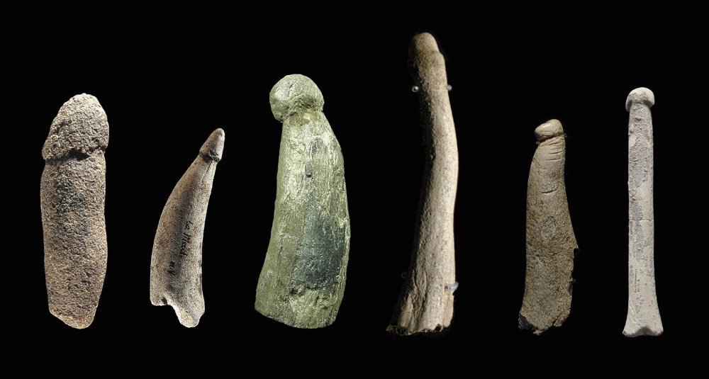 ancient stone and bone and ivory dildos