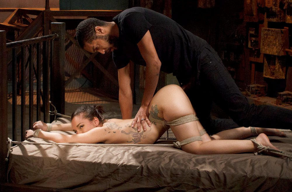 rope bondage in the anal sex dungeon