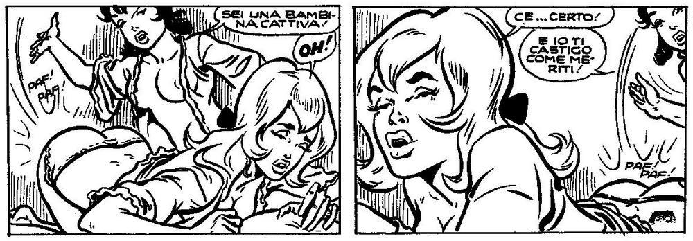 fumetti spanking art