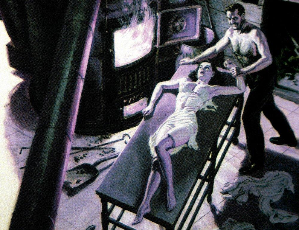 feeding a woman alive into a furnace
