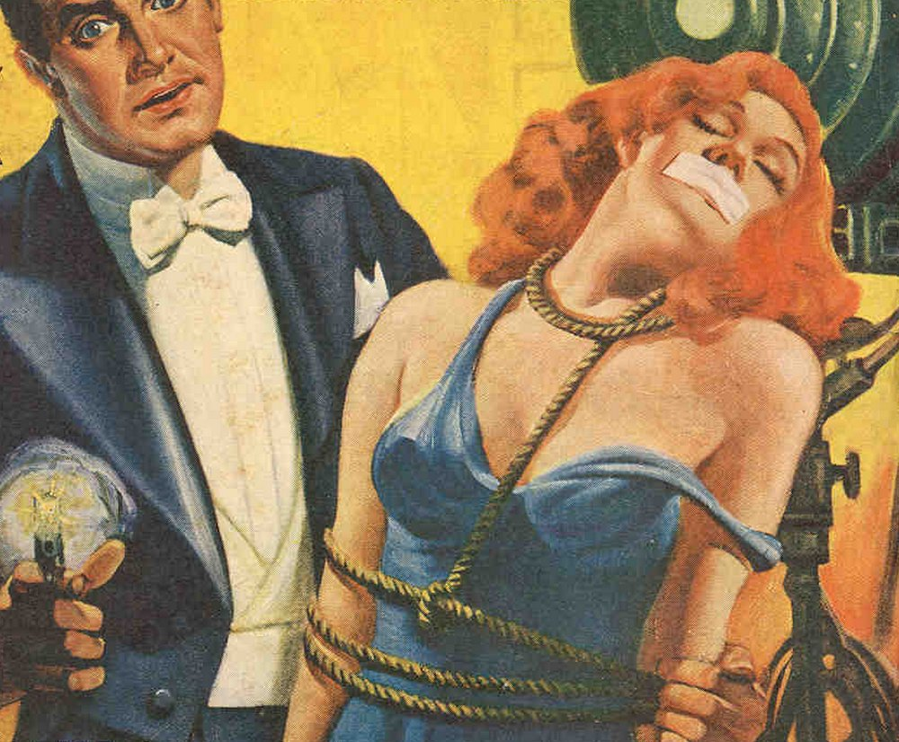 dandy has a bondage girl and a gun
