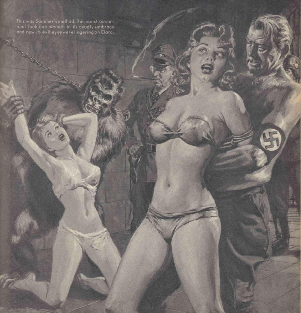 nazi apes and a monkey