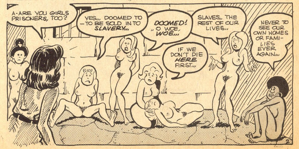 naked women held prisoner to be sold as slaves