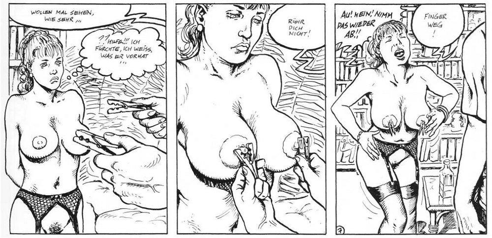 Sadism piercing the nipples