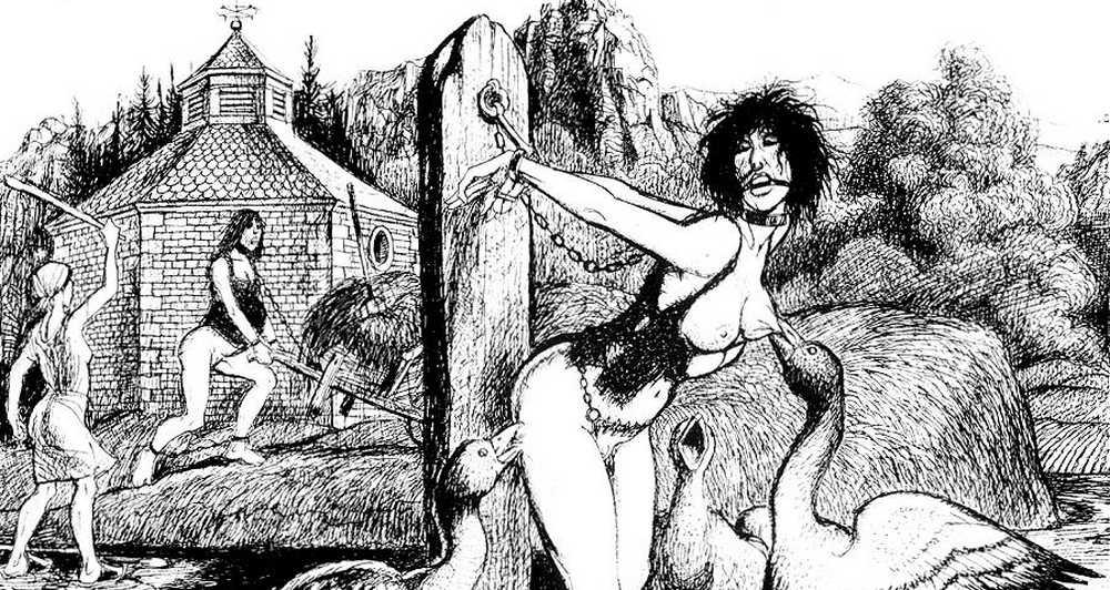 goose punish girl