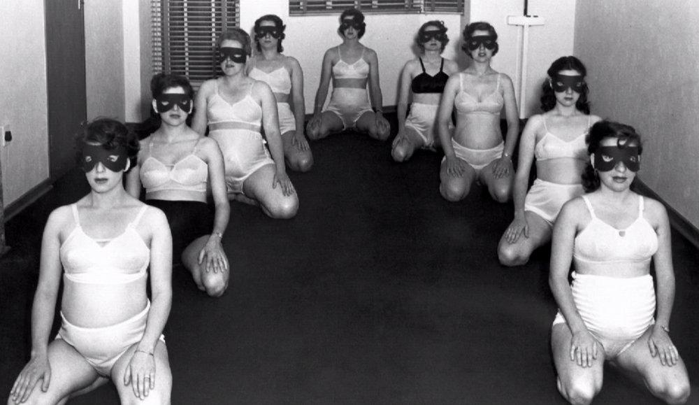 gang of nine masked pregnant women
