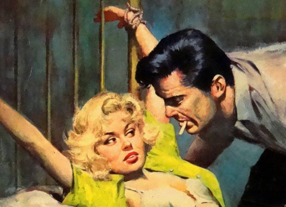 bondage blonde menaced
