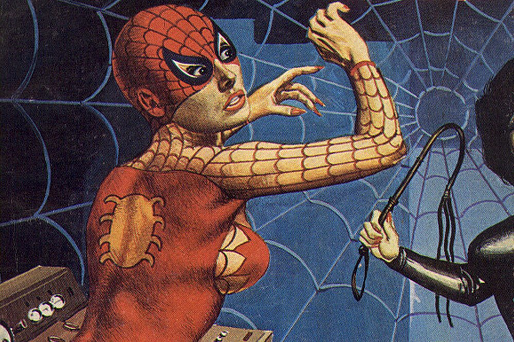 breast whipping for spiderwoman
