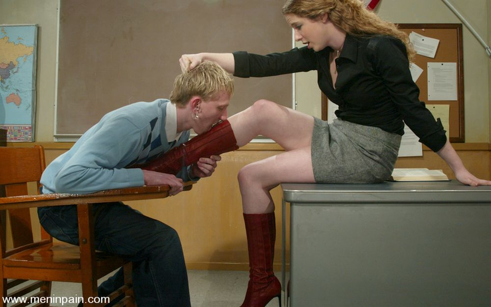 boot licking male student