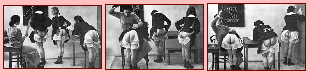teacher spanks three girls