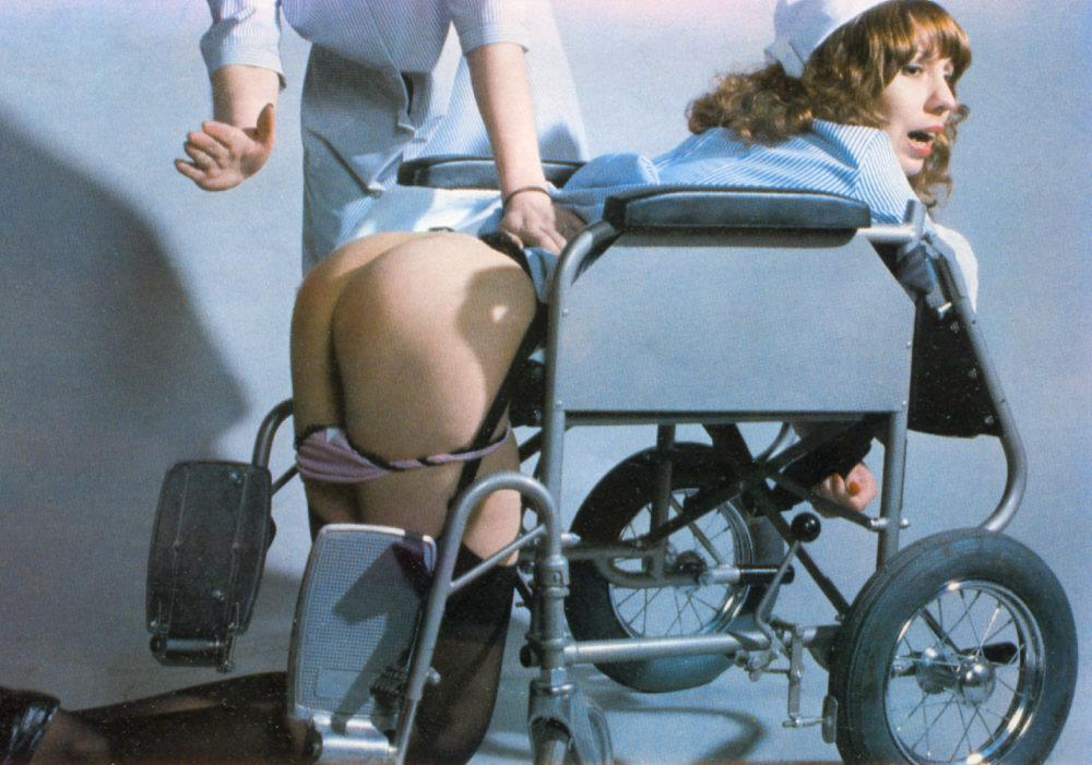 spanked in wheel chair
