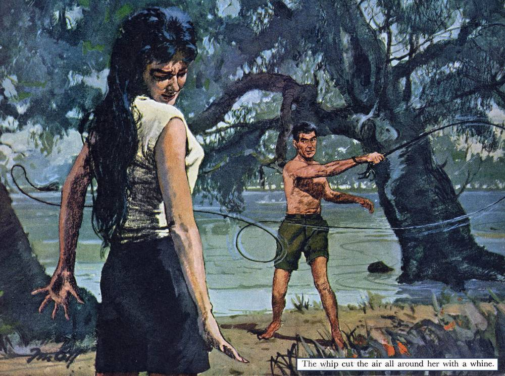 menaced with a bullwhip