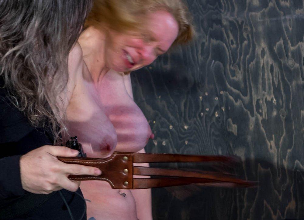 tit whipping for Rain DeGrey