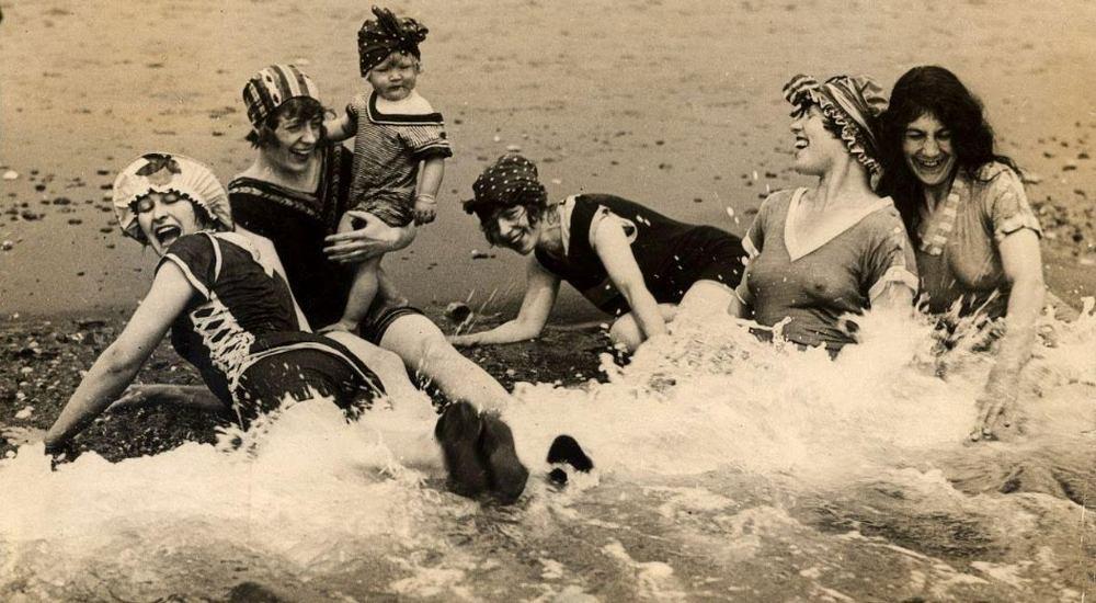 frolicking beach women